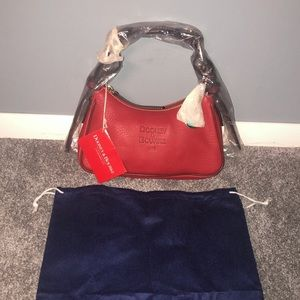 Vintage Dooney & Bourke Red Hobo Bag